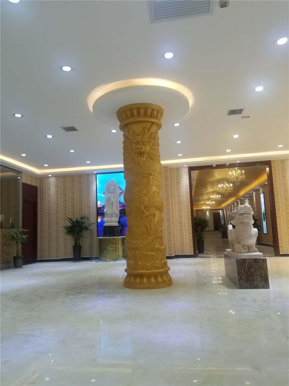 兵马俑宾馆玻璃钢龙柱